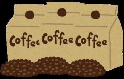 コーヒーの袋が並んでいる