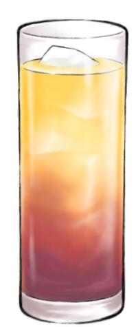 カシスオレンジのイラスト